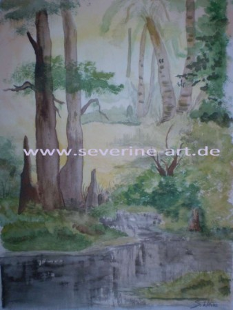 Aquarell nach Bob Ross