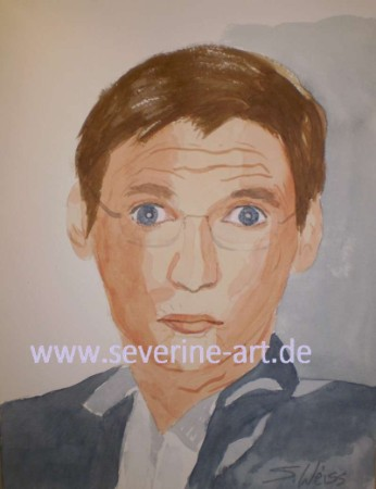 1.Portrait in Aquarell Günther Jauch
