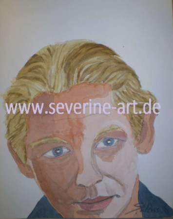 2. Portrait in Aquarell Ben Becker